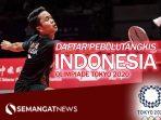 Daftar Pebulutangkis Indonesia Olimpiade Tokyo 2020