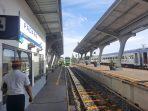 Kedatangan Ka Minangkabau Ekspres di Stasiun Padang. (Foto: Dok. Humas KAI Sumbar)