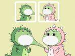 Twibbon Bucin Dino Couple Tiktok