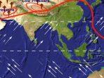 Ilustrasi angin muson timur (foto: geologinesia)