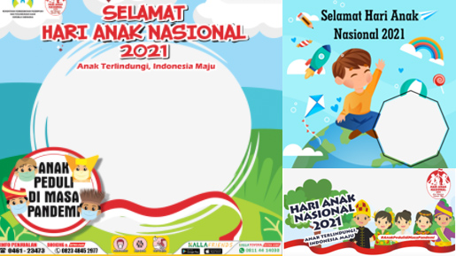 bingkai twibbon Hari Anak Nasional 2021