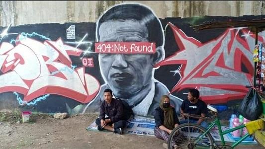 Mural Presiden Joko Widodo yang dianggap menghina lambang negara. (Foto: Dok. Istimewa)