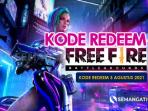 Kode Redeem FF 3 Agustus 2021