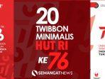 Twibbon Minimalis 17 Agustus HUT-RI ke 76