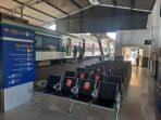 Ruang tunggu calon penumpang kereta api di Stasiun Padang. (Foto: Dok. Humas KAI Sumbar)