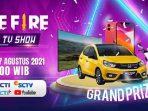 Pesta 4nniversary Ulang Tahun Ke-4 Free Fire (FF) Live TV Show RCTI & SCTV Jumat 27 Agustus 2021: Dapatkan Hadiah HP hingga Mobil