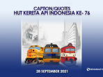 HUT KAI Kereta Api 2021