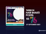 Twibbon Hari Bakti Postel Ke-76 27 September 2021