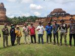Kegiatan konservasi situs cagar budaya Candi Muara Takus di Kabupaten Kampar, Riau.