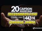Caption, Qoute Maulid Nabi Muhammad dalam Bahasa Jawa