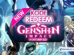 Kode Redeem Genshin Impact 13 Oktober 2021 Terbaru Hari Ini aktif