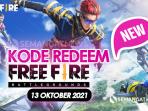 Kode redeem Garena FF Free Fire